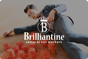 Brilliantine samurai cut workers